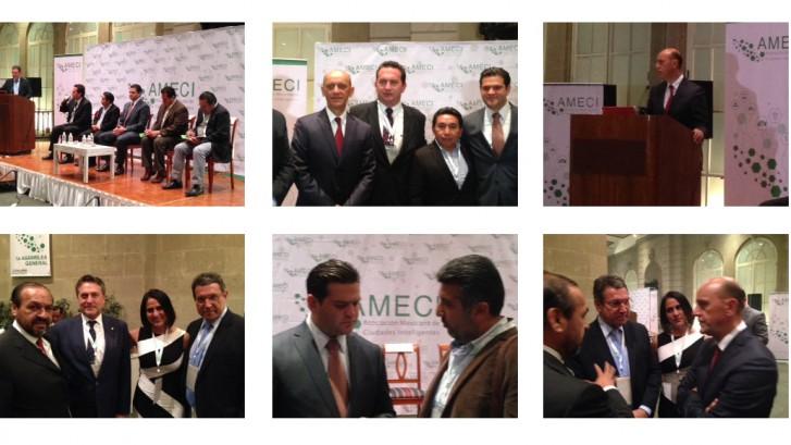 Algunos momentos durante la Primera Asamblea de AMECI
